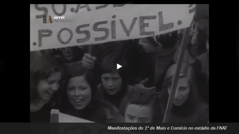 Manifestações 1 Maio 1974